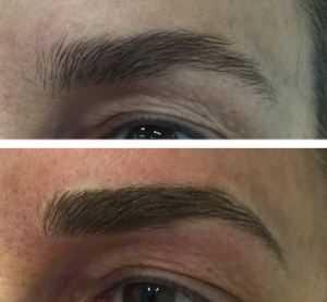 Eyebrows Eye Liner Before after 02